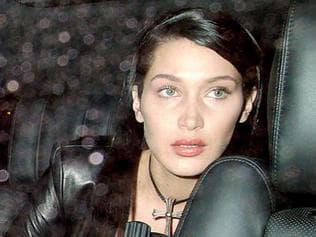 ONE TIME WEB USE ONLY - FEE APPLIES - Bella Hadid wardrobe malfunction - London Fashion Week. Picture: Blitz Pictures