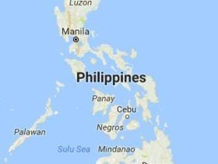 A map of where a strong earthquake struck off the coast of the Philippines on Saturday, 29 April, 2017. Picture: USGS.