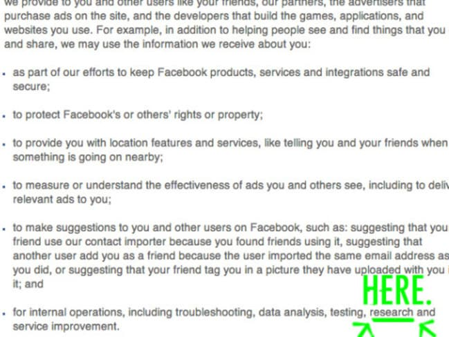How Facebook uses the information you provide them.