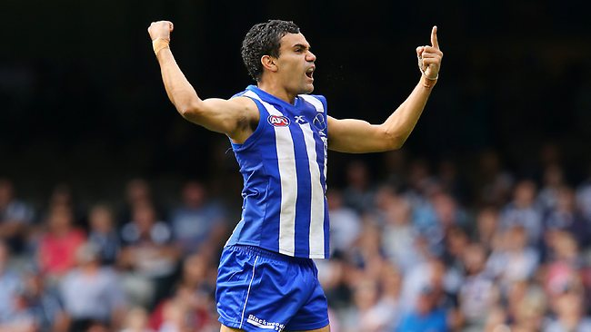 North Melbourne small forward Lindsay Thomas, the AFL's leading goal-scorer, has kicked 172 six-pointers in 115 games Picture: George Salpigtidis
