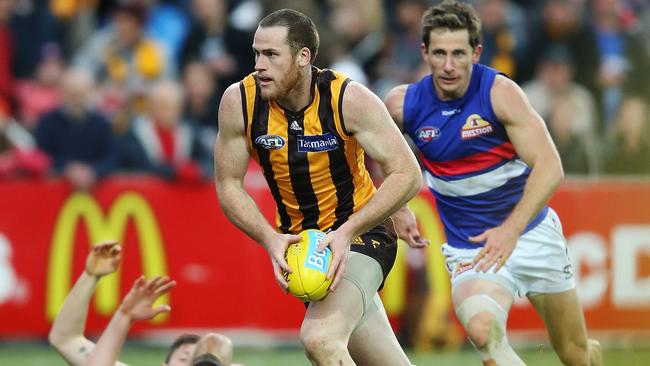 Jarryd Roughead kicked six goals in the Hawks' win.