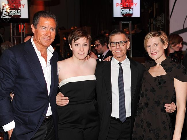 HBO head of programming Michael Lombardo is second from the left. Here with HBO CEO Richard Plepler,  <i>Girls</i> creator and actor Lena Dunham and former HBO Entertainment president Sue Naegle.