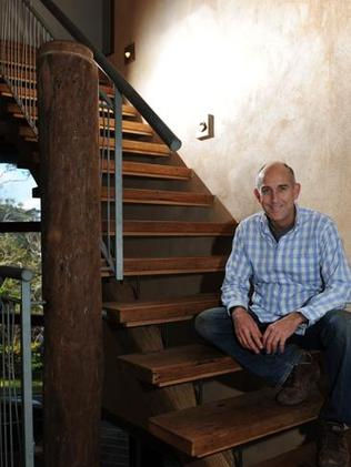 Paul Young rebuilt his house using materials he found at tips.