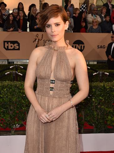 Kate Mara arrives at the 22nd annual Screen Actors Guild Awards at the Shrine Auditorium Expo Hall. Picture: Jordan Strauss/Invision/AP
