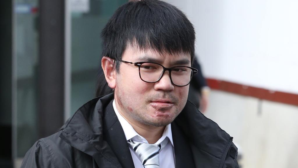 Jaden Duong leaves ACT Magistrates Court after pleading not guilty to arson and damage to property. Picture: Ray Strange