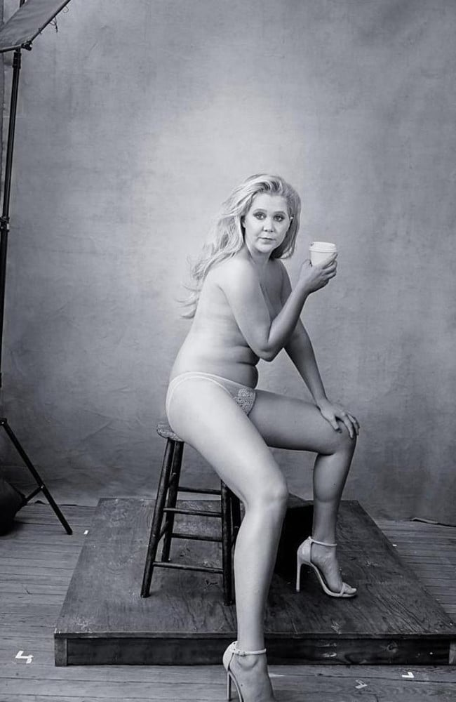 Not quite a pin-up pose... Picture: Annie Leibovitz