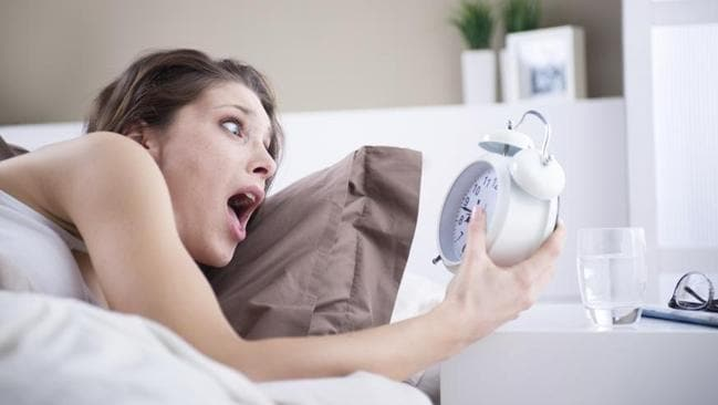 Oversleeping is probably not a good excuse to take the day off work. Source: ThinkStock