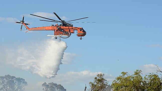 A fire in bushland in Kwinana is a possible threat to homes. Picture: Justin Benson-Cooper