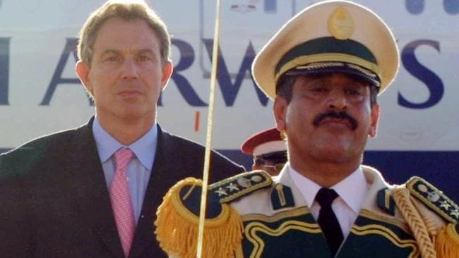 Britain's then Prime Minister Tony Blair in Riyadh in 2001.