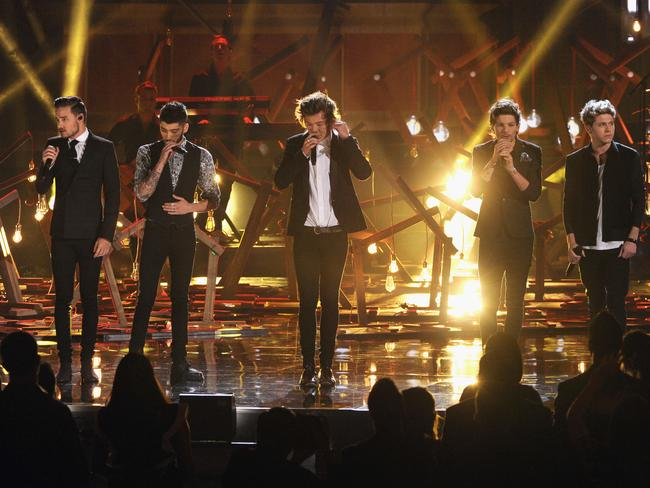Global hit ... Liam Payne, Zayn Malik, Harry Styles, Louis Tomlinson and Niall Horan of One Direction. Picture: Kevin Winter