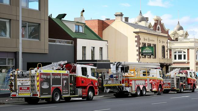 fire crews respond to macquarie st blaze at pirate shop. Black Bedroom Furniture Sets. Home Design Ideas