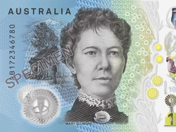 Supplied images of the 2017 release of a new ten dollar note.