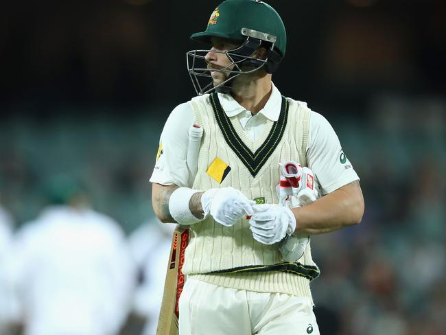Wade only managed four runs in his return to the Test team in Adelaide.