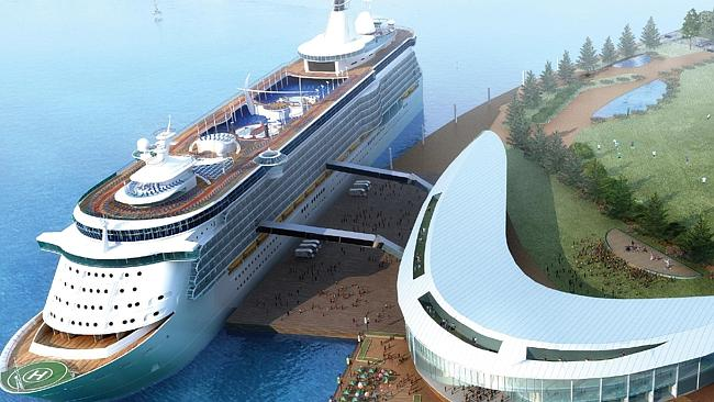 Artist Impression of the ASF China Property Consortium cruise ship terminal.