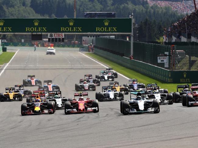 The Formula 1 grid.
