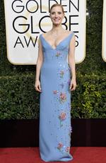 Jessica Chastain attends the 74th Annual Golden Globe Awards at The Beverly Hilton Hotel on January 8, 2017 in Beverly Hills, California. Picture: Getty