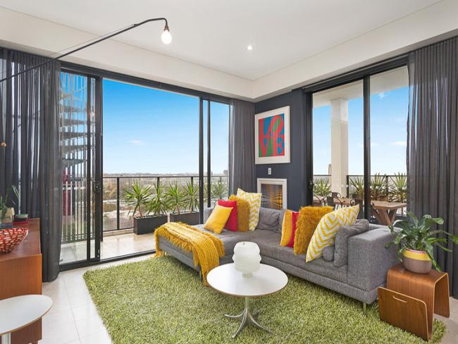 In a new building near Redfern train station, this two-bedroom penthouse on Redfern St has city views, a 65sq m terrace and parking for four cars. TITLE: The French Riviera