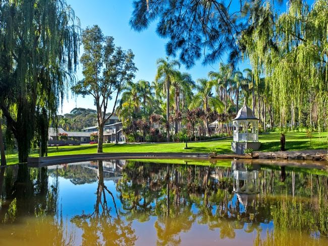 Weeping willows, a fish pond, a tranquil park - all part of Kookaburra in Bayview.