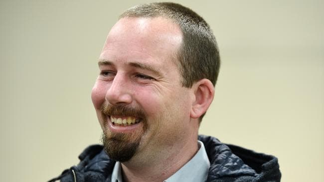 Owns three cars of varying ages ... Motoring Enthusiasts Party Senator Ricky Muir. Picture: Jake Nowakowski