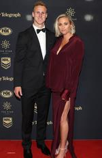 Daly Cherry-Evans and Vessa Rockliff during the 2017 Dally M Awards at The Star, Sydney. Picture: Brett Costello