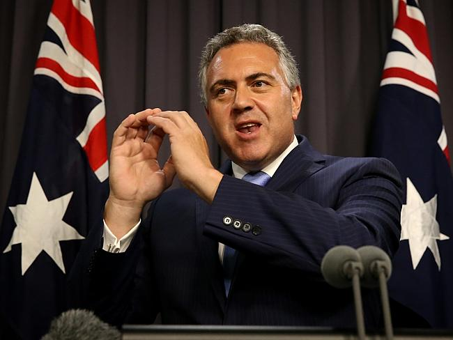 Look the cup is empty and there's a hole in it ... Treasurer Joe Hockey explains the mess he inherited.