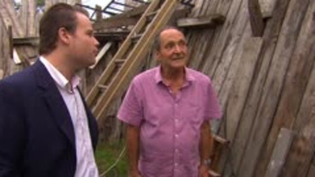Pensioner Tony has build a wall around his house to keep his ex out. Picture: Channel Nine
