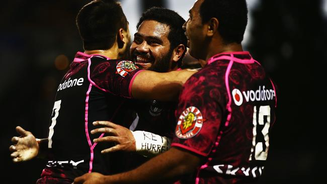 Konrad Hurrell was once again among the Warriors' best. Pic: Hannah Peters/Getty Images