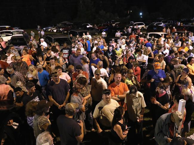 People wait to enter the Remote Area Medical (RAM) mobile clinic on July 21, 2017 in Wise, Virginia. Picture: Getty.