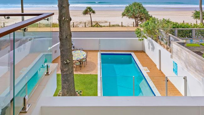 Data supplied by Airbnb shows this Currumbin beach house was the Gold Coast's best performing Airbnb, earning an estimated $132,000 a year for owner Holly Hohn. Picture: Supplied