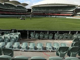 Adelaide Oval broken seats
