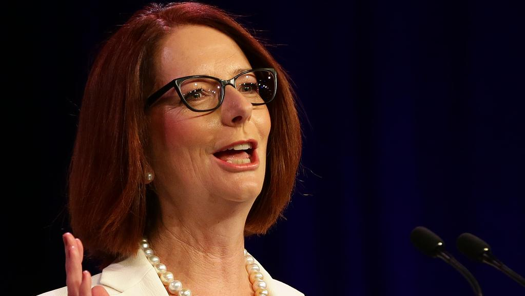 Julia Gillard is among those who had their private mobile number accidentally published in a government report. Picture: Dylan Coker
