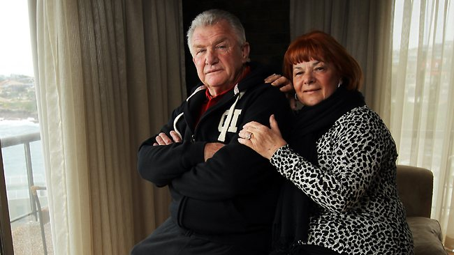 George Piggins and wife Noelene at their South Coogee home. Picture: Rohan Kelly