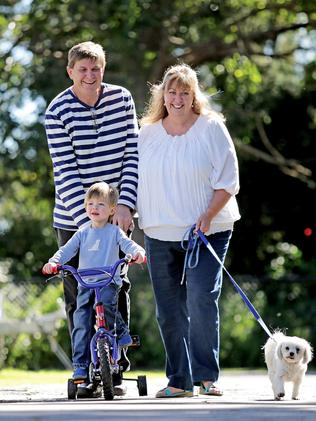 Anthea Nicholas and Peter Byrnes with their son Nicholas, 2 / Picture: Luke Marsden