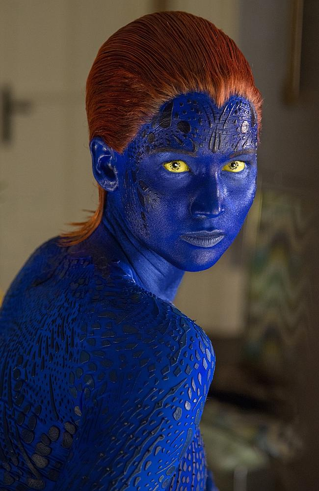 J-Law shifts her look .... for X-Men: Days of Future Past, Jennifer Lawrence shapeshifts into full Mystique mode.