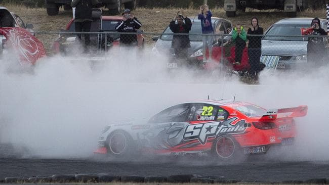 The low point of Sunday, when Courtney blew the power steering with his celebratory burnout.