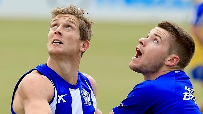 Nick Dal Santo in action at Roos training.