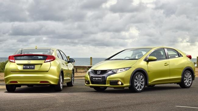 Popular appeal: Honda has sold more than 300,000 Civics in Australia since the 1970s.