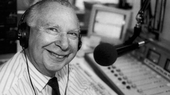 Harry Beitzel was a familiar voice behind the microphone for decades of footy fans.