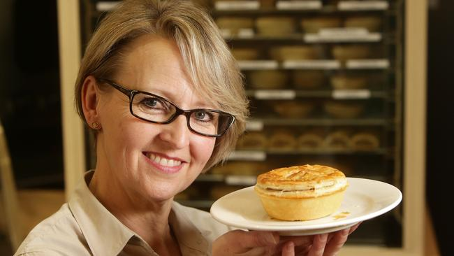 Anita Derbali from St Georges Bakehouse with the chunky beef and mushroom pie. Picture: Calum Robertson