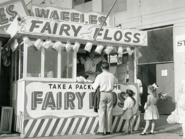 A Fairy Floss stand at The Show in the 19950s.