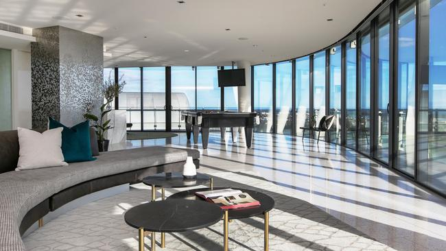 The penthouse offered 740sq m of living space internally.