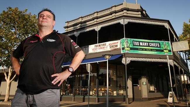 Australia Hotel owner Paul Tsorbaris is one of many local business people whose livelihoods are threatened by the possible cl...