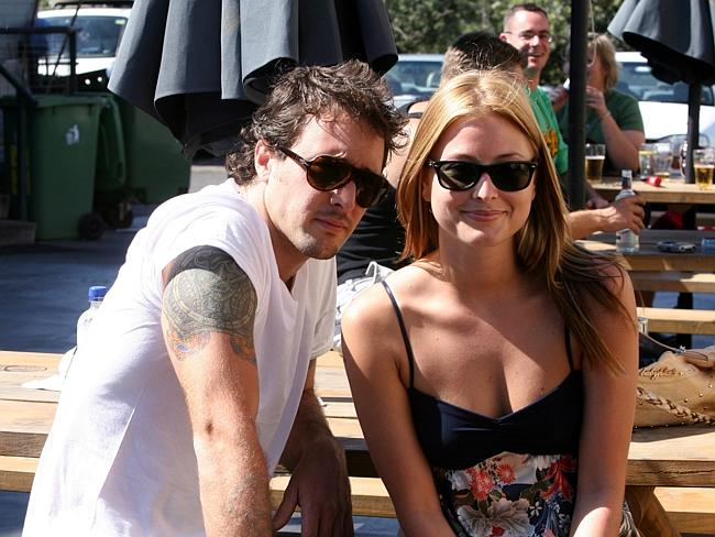 Former lovers ... Singer Holly Valance with then boyfriend Alex O'Loughlinat the Clovelly