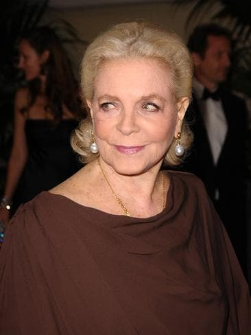Lauren Bacall attends the 2009 Governors Awards Gala at the Grand Ballroom. Picture: Getty