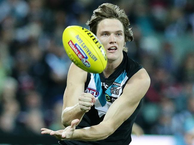 Like his team, Port Adelaide's Jared Polec has dropped off the pace in recent weeks. Picture: Sarah Reed