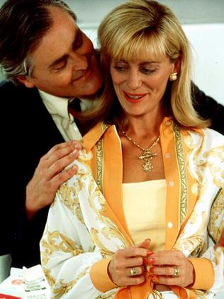 Actors John Howard & Kerry Armstrong in Seachange in 1998.