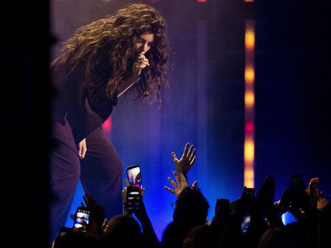 Sharing the love ... Lorde performs at the 2014 Much Music Video Awards in Toronto on Sunday, June 15, 2014. Picture: Chris Young