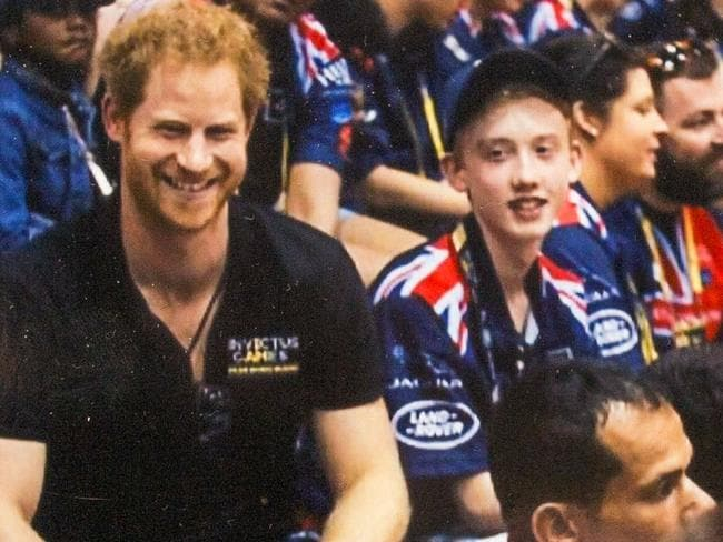 Prince Harry and Sam at last year's Invictus Games. Picture: Caters News