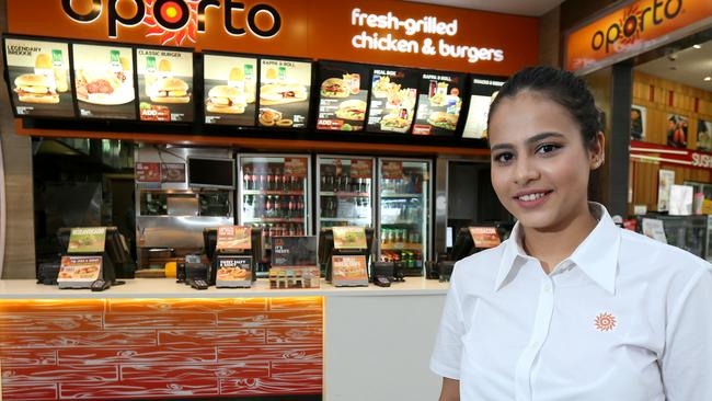 Akanksha Taneja outside her store in Westfield Penrith. Picture: Anthony Johnson