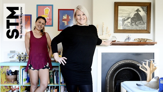 Peta Bree Rule, right, at her Mount Hawthorn home with housemate Aaria Speakman. Picture: Richard Hatherly